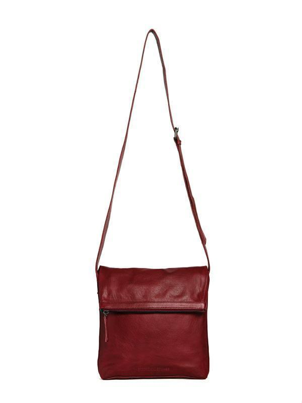 Sticks and Stones - Ledertasche Strasbourg - Cherry Red