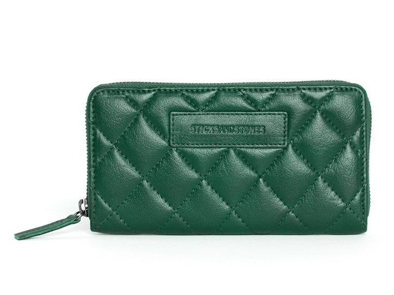 Sticks and Stones Tilcara Wallet - BW - Forest Green