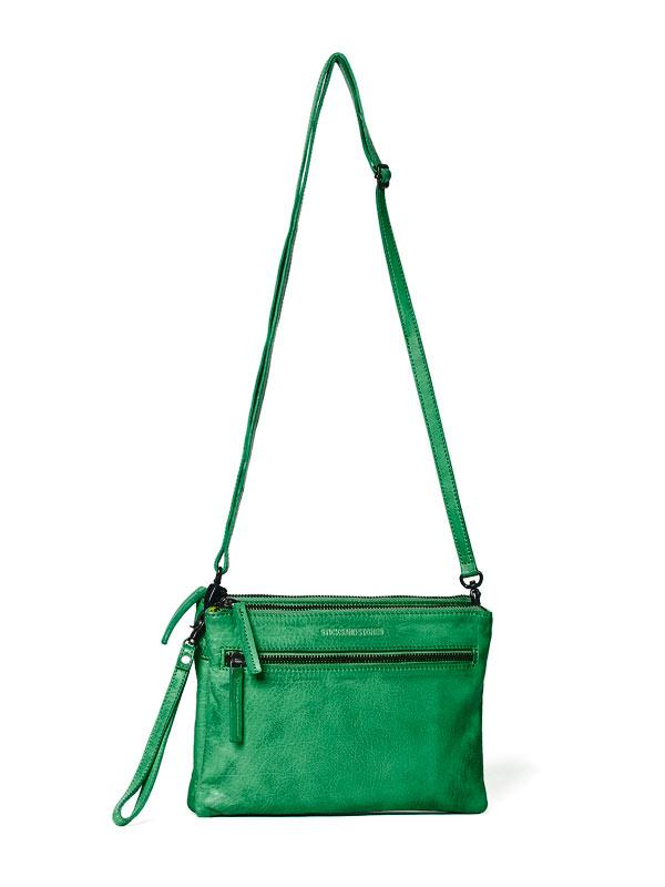 Sticks and Stones - Ledertasche Valletta - Cactus Green