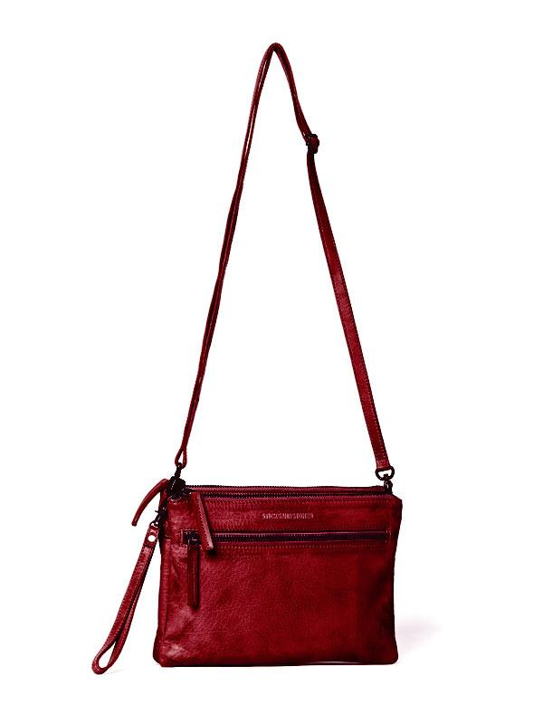 Sticks and Stones - Ledertasche Valletta - Cherry Red