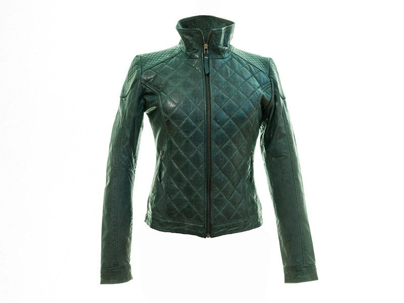 Sticks and Stones Lederjacke Vienna Jacket - BC - Smoke Pine 36 Rückseite