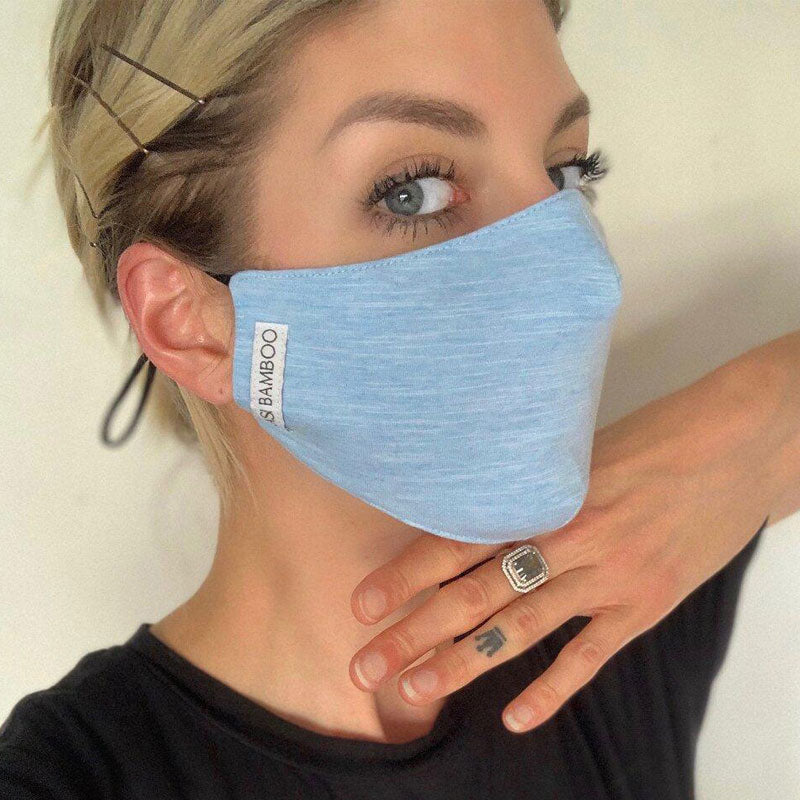 Bamboo Face Mask - Powder Blue