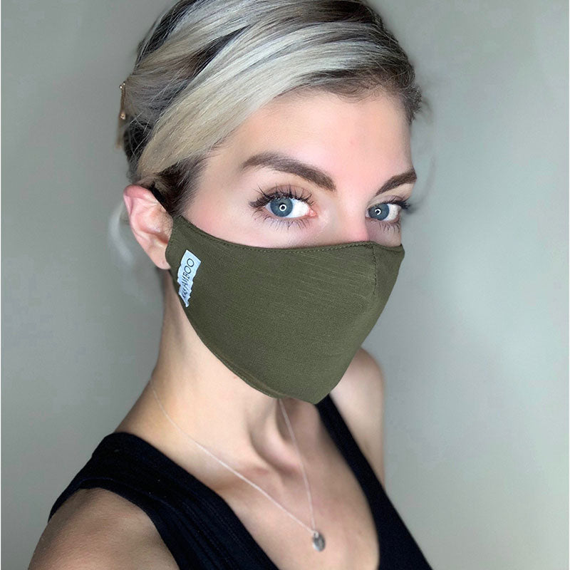 Bamboo Face Mask - Army Green