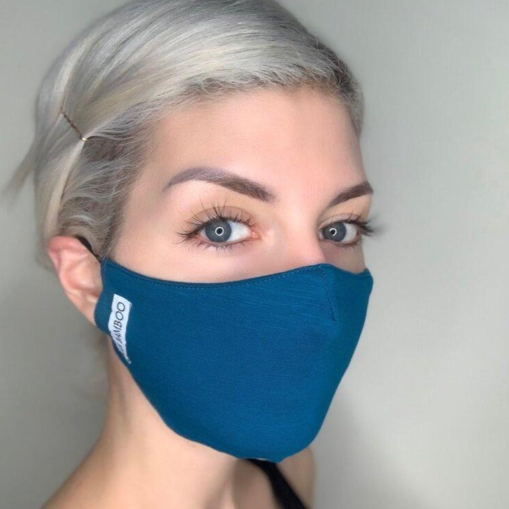 Bamboo Face Mask - Topaz Blue
