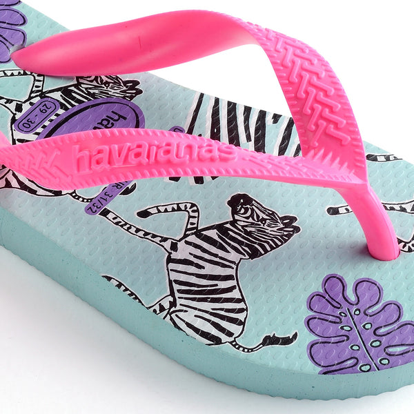 Havaianas Kid's Top Fashion, Sky Blue and Rosa Flux