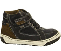 Lurchi Barney-Tex Waterproof Boots, Atlantic/Brown, Petrol/Bungee, Charcoal