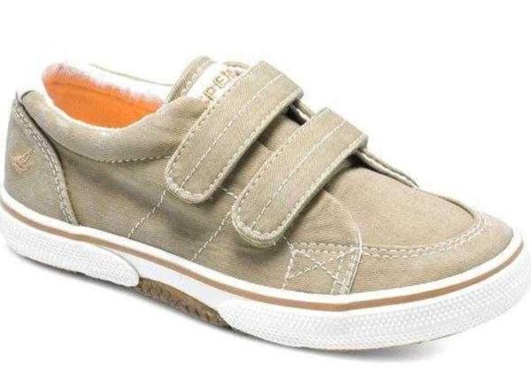 Sperry Halyard Khaki Canvas Pumps