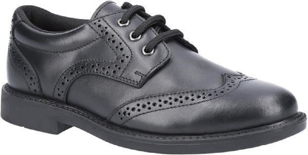 Hush Puppies Harry Black Lace-Up Brogue