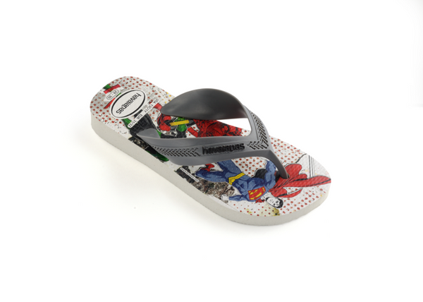 Havaianas Kid's Max Heroes, White Steel Grey