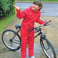 Result Waterproof Jacket and Trouser Sets, Red & Navy Blue