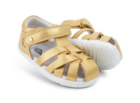 Bobux Step-Up Tropicana Sandal, Guava and Gold