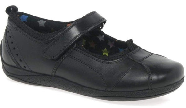 Hush Puppies Cindy School Shoes, Black, Size 5 UK