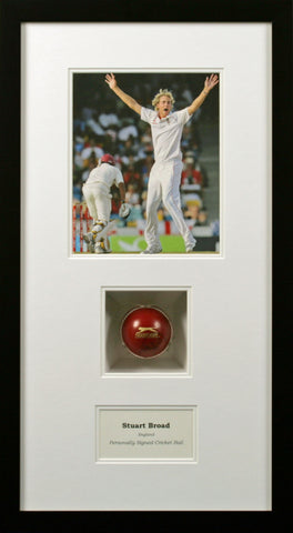 Stuart Broad Signed Cricket Ball