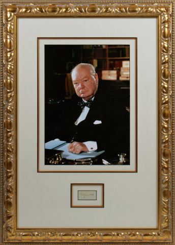 Winston Churchill  Original Signature