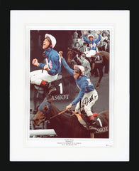 "Frankie Dettori 12 x 16"" Signed Photographic Montage"