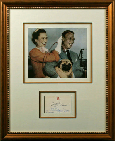 Duke and Duchess of Windsor Original Signatures