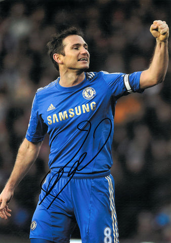 "Frank Lampard 8 x 12"" Signed Photograph"