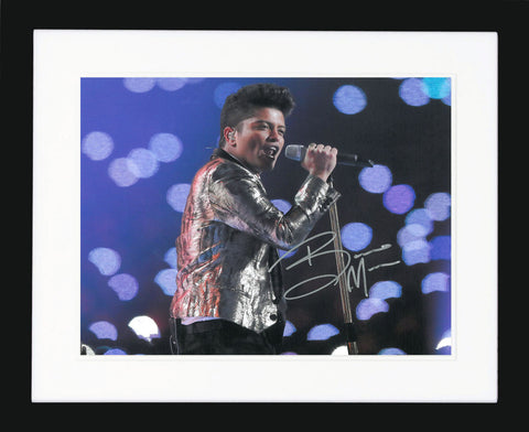 "Bruno Mars 10 x 8"" Signed Photograph"