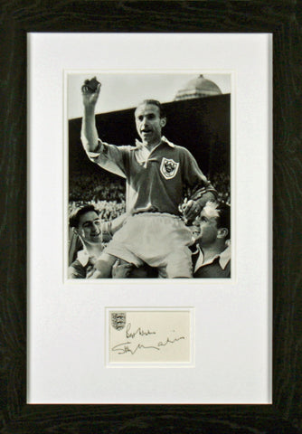 Sir Stanley Matthews Original Signature