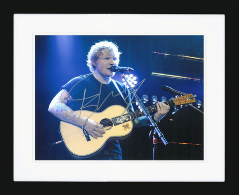 "Ed Sheeran 10 x 8"" Signed Photograph"