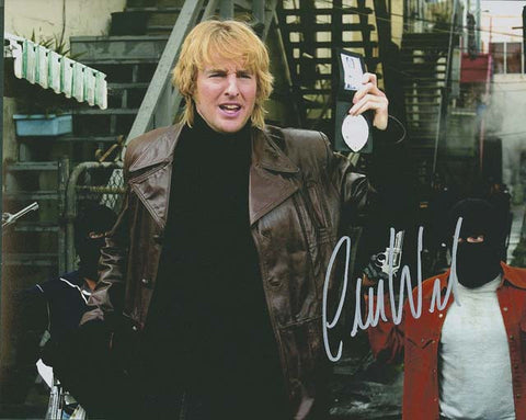 "Owen Wilson 10 x 8"" Signed Photograph"
