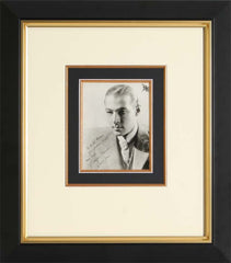 Rudolph Valentino Vintage Signed Photograph