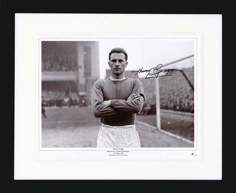"Harry Gregg 16 x 12"" Signed Photograph"