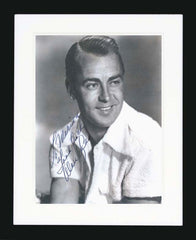 Alan Ladd Signed Vintage Photograph