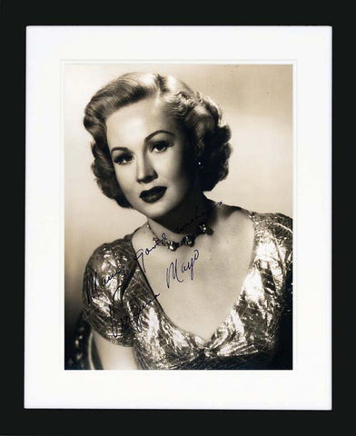 Virginia Mayo Vintage Signed Photograph