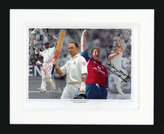 "Nasser Hussain and Darren Gough 16 x 12"" Signed Photograph"