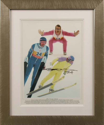 "Eddie 'The Eagle' Edwards 12 x 16"" Signed Photograph"