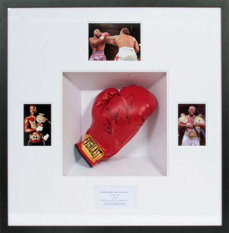 Evander Holyfield and Lennox Lewis Signed Glove