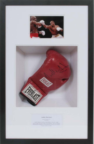 Audley Harrison Signed Glove Presentation
