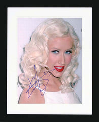 "Christina Aguilera 8 x 10"" Signed Photograph"