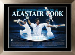 Alistair Cook Signed Limited Edition Lithograph