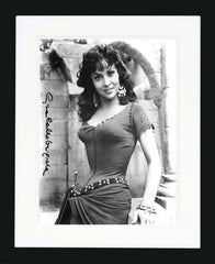 "Gina Lollobrigida 8 x 10""  Signed Photograph"
