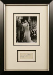 Greer Garson Original Signature