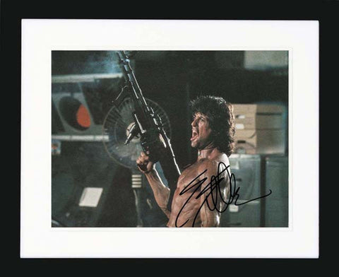 Sylvester Stallone 'Rambo' Signed Lobby Card
