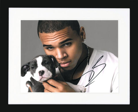 "Chris Brown 10 x 8"" Signed Photograph"