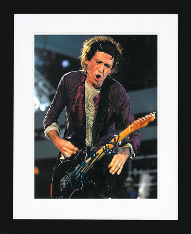 "Keith Richards 8 x 10"" Signed Phortograph"