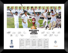 England's 2013 Ashes Victory Print with Original Signatures
