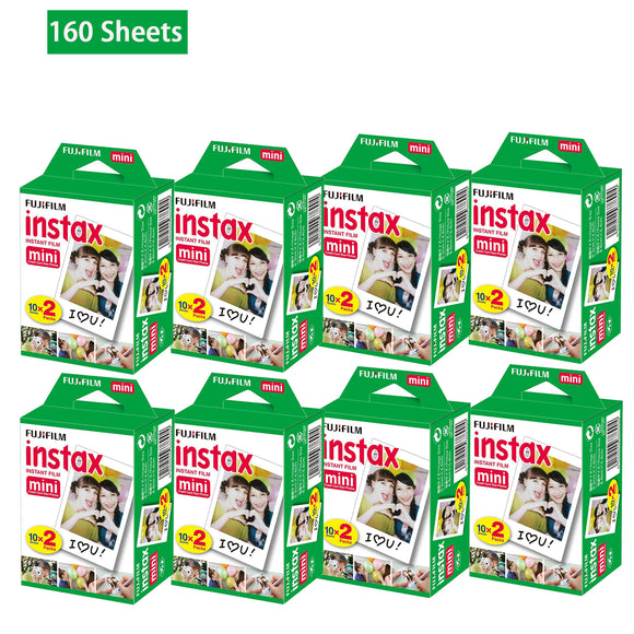 160 Sheets Fujifilm Instax Mini Film Fuji instant photos 7s 8 25 90 Polaroid 300