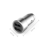 Xiaomi Mi Car Charger 3.6A Fast Charging Metal Style - SILVER