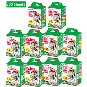 200 Sheets Fujifilm Instax Mini Film Fuji instant photos 7s 8 25 90 Polaroid 300