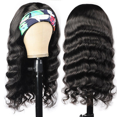 Loose Wave Virgin Human Hair 150% Density Headband Wigs Glueless For Black Women