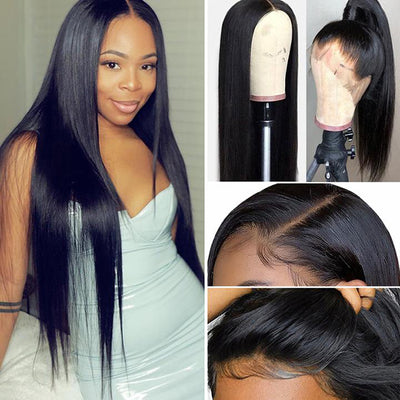 13*6 Human Hair Lace Front Wig With Baby Hair Natural Line silky straight hair