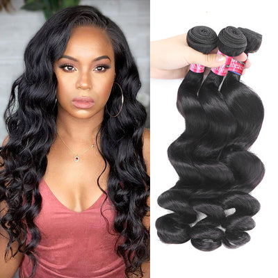 High Quality Loose Wave Virgin Hair Bundles 3 Bundles Brazilian Loose Wave