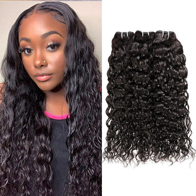 Malaysian Water Wave 3 Bundles Natural Wave Real Hair Extensions