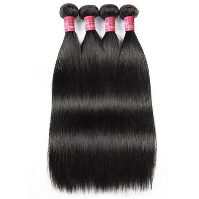 High Quality Peruvian Hair 4 Bundles Straight Hair Virgin Human Hair Weave
