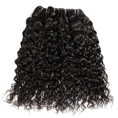 Natural Wave 4 Bundles Real Hair Extension Hairinbeauty Water Wave Virgin Human Hair Weave 100% Raw Indian Hair Extension